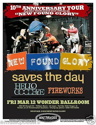 NEW FOUND GLORY / SAVES THE DAY 2010 10th ANNIV. TOUR PORTLAND CONCERT POSTER - $10.99