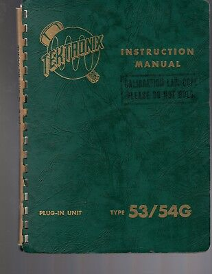 Original Tektronix 5354g Wide-band Differential Preamp Instruction Manual