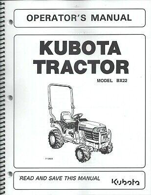 Kubota Bx22 La210 Bt600 Tractor Loader Backhoe Operator Manuals 3pcs