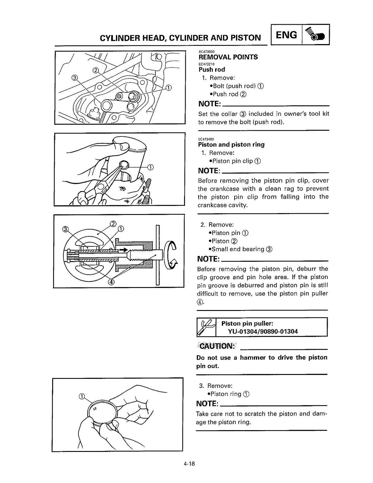 3 of 12 Yamaha owners service workshop manual 2000 YZ125(M)/LC