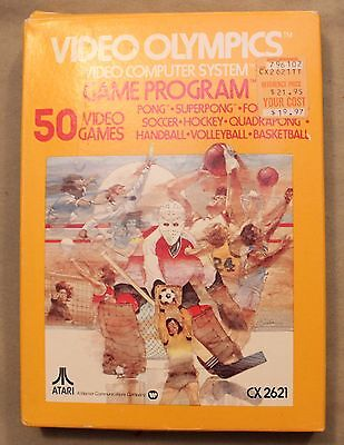 M Original Atari 2600 Cx 2621 Video Olympics Video Computer System Game Program