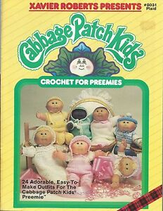 Cabbage-Patch-Kids-CROCHET-FOR-PREEMIES-Pattern-Book-Xavier-Roberts-NEW-OOP
