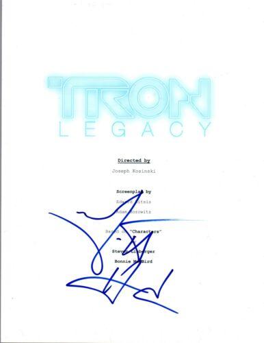 Garrett Hedlund Signed Autographed TRON LEGACY Movie Script COA AB