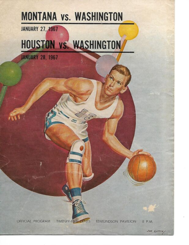 1966-67 Washington-Houston & Montana Basketball Program Huskies Upset Cougars!!