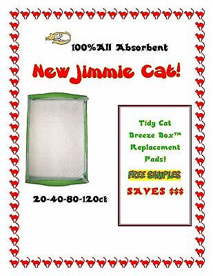 40 Jimmie Cat Pads for the Tidy Cat Breeze Box  Free Samples Why Pay More