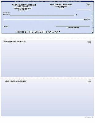 Intuit 500 Printed Quickbooks Checks ON TOP With Custom Logo