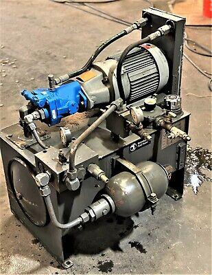 Good Condition - 5hp Berendsen Hydraulic Fluid Power System Hpu Hydraulic Power