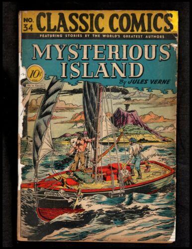 CLASSICS ILLUSTRATED #34 (O) HRN35 (CLASSIC COMICS MYSTERIOUS ISLAND)