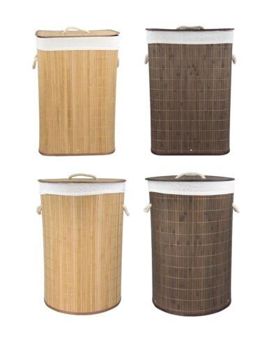 Home Basics NEW Bamboo Foldable Laundry Basket Natural Brown