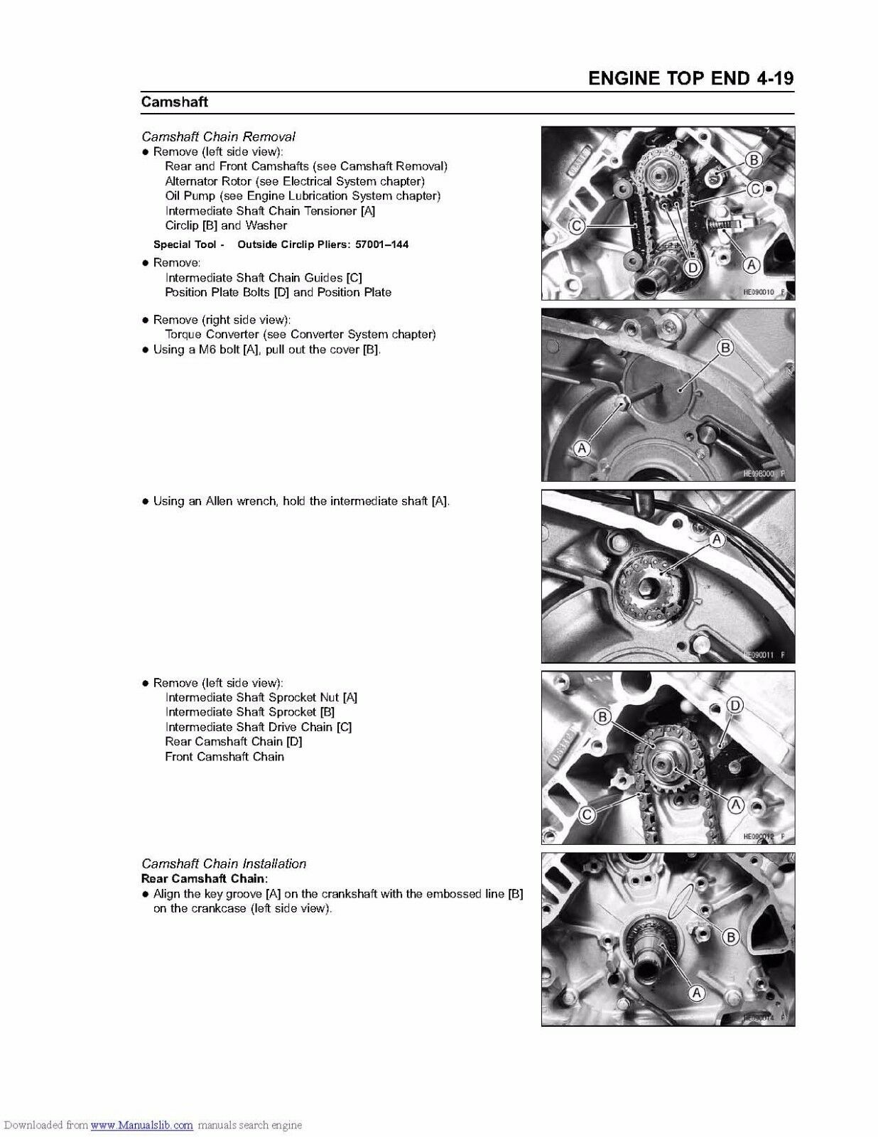 10 of 12 Kawasaki service workshop manual 2002 & 2003 PRAIRIE 650, KVF 650