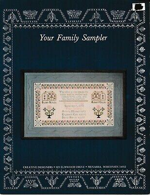 Your Family Sampler Cross Stitch   Creative Designers Creative Stitch Designs