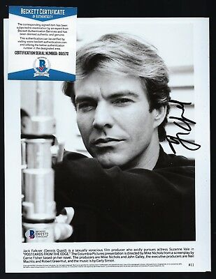 Dennis Quaid signed 8x10 photograph BAS Authenticated Postcrads from the Edge