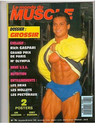 Le Monde Du Muscle  74 Bodybuilding Magazine Rich Gaspari 1 89  Fr