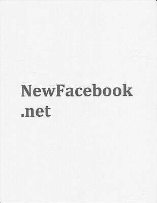 Newfacebook.net Domain Name For Sale