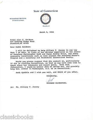 Senator Richard Blumenthal  Signed  Letter