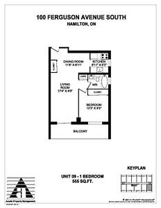 UPDATED 2 BEDROOM SUITES NOW AVAILABLE AT 100 FERGUSON!