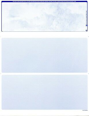 100 Blank Business Checks  Marble Blue Top