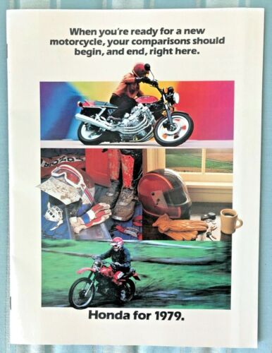 HONDA for 1979, Full Line MOTORCYCLES SALES BROCHURE, with Great Pictures