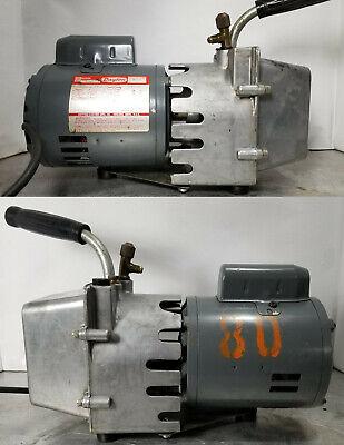 Dayton 4z577 Refrigeration Vacuum Pump W 9k628 Motor 115v. 13 Hp.