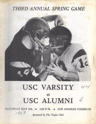1963 USC Varsity-USC Alumni Spring Game Program NICE!!