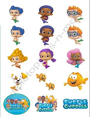 Bubble Guppies Edible Print Premium Cupcake/Cookie Toppers Frosting Sheet 2 - Bubble Guppies Cupcakes
