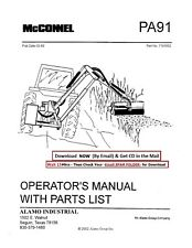 Alamo McConnel Mower Boom Operator & Service Parts Manual
