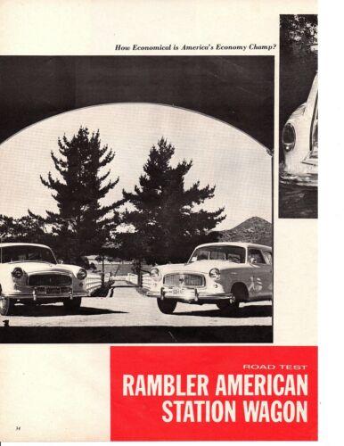 1960 RAMBLER STATION WAGON 196/90 HP ~ ORIGINAL 4-PAGE ROAD TEST / ARTICLE / AD