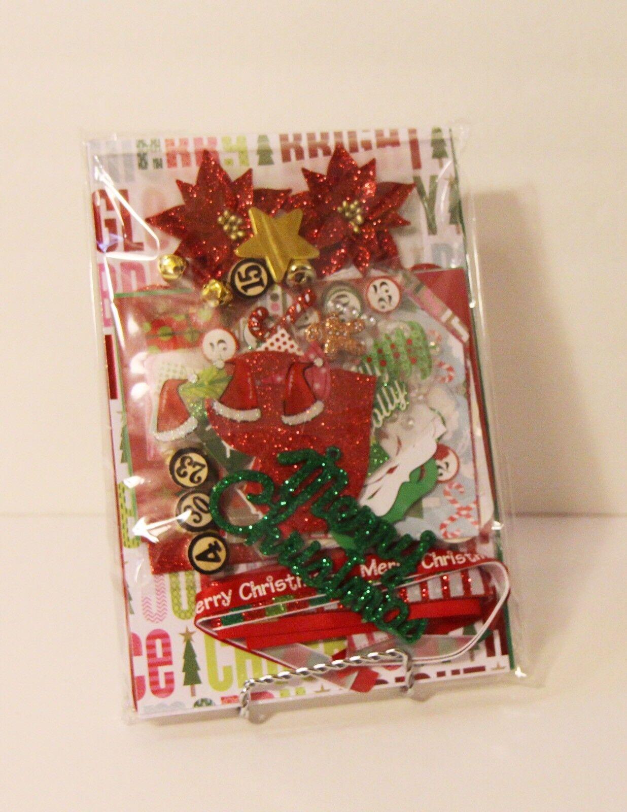 December Daily 2 KIT Chipboard Mini Book Album Junk Art Mixed Media Journal - $21.00