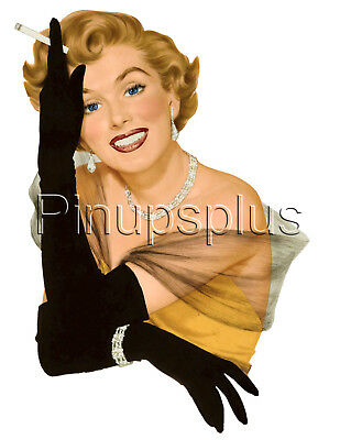Pinup Girl Sticker Waterslide Decal Old Fashion 50s Cocktail Party Cigarette](50s Girl Fashion)