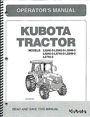 Kubota L3240-3 L3540-3 L3940-3 L4240-3 L4740-3 L5240-3 L5740-3 Op Mancab Pair