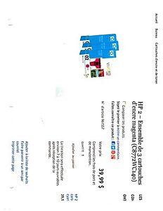 Cartouche d'encre HP # 02 West Island Greater Montréal image 5