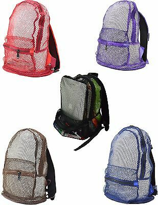 Multi Color Mesh See Through Backpack New With - Coloring Backpack