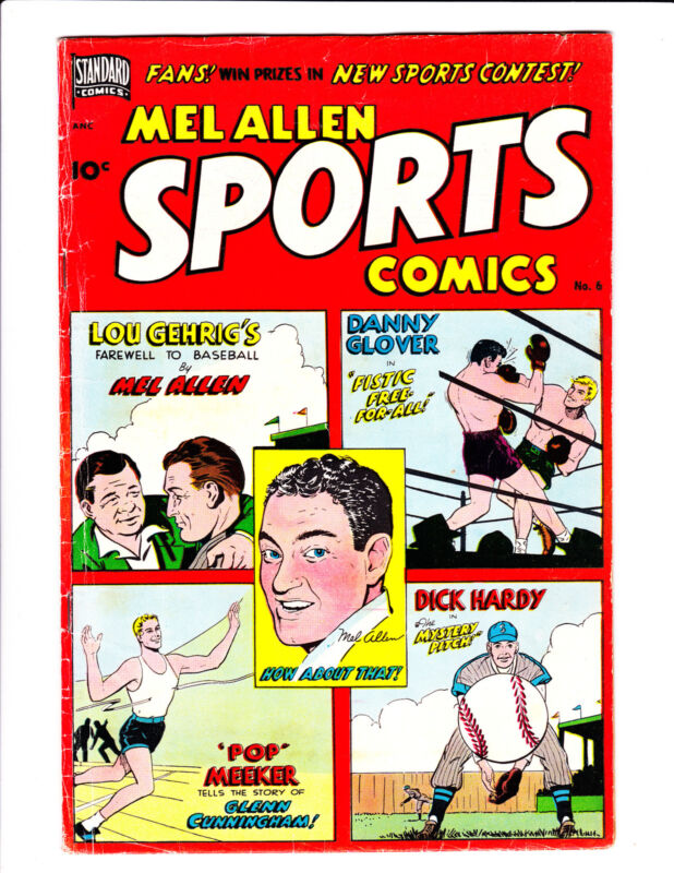 Mel Allen Sports Comics   No.6     : 1950 :     : Lou Gehrigs Story! :