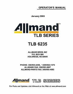 Allmand Tlb 6235 Operators Manual