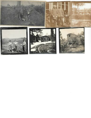 5x diff WW1 GERMAN Real Photos SOLDIERS IN UNIFORM GROUP POSE lot HISTORY #11