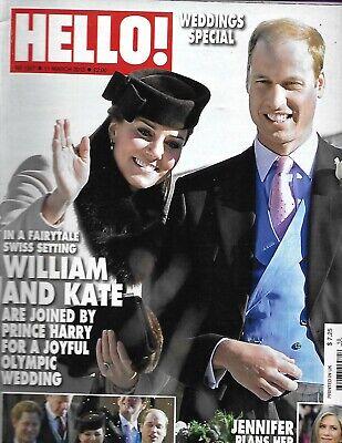 Kate Middleton Hello Magazine Prince William Jennifer Aniston Oscars Milan (Prince William Style)