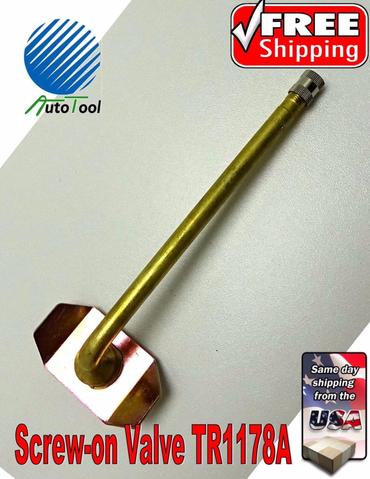 """Tire Valve Truck Screw-On Repair Valve 5"""" TR1178A FOR USE IN TUBE WITH TRSP1000"""