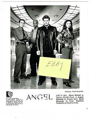 ANGEL 2000 ORIGINAL WB TV CAST PHOTO BUFFY VAMPIRE SLAYER BOREANAZ DRACULA