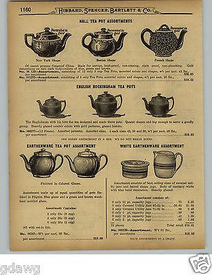 1929 PAPER AD Hall China Tea Pots English Rockingham White Earthenware Stoneware