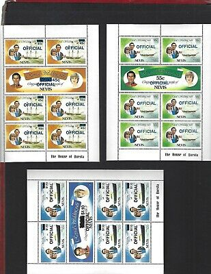 Nevis sc#O23-8 (1983) Complete Sheets of 7 MNH