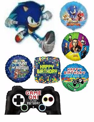 Video Game Sonic The Hedgehog Classis '90s Balloons Party Ware Decoration Helium - Sonic The Hedgehog Party Decorations