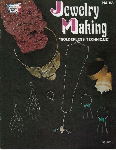 Jewelry Making w/ Metal & Wire Solderless Technique VTG Craft Instruction Book