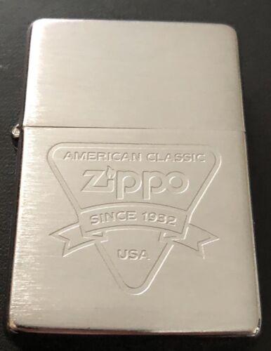 Vintage 1994 Zippo Lighter Flat Bottom Since 1932 An America