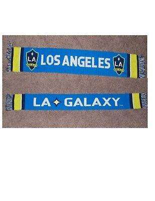 Los Angeles Galaxy Fan - MLS LA Galaxy Soccer Double Sided Scarf Blue Yellow Los Angeles Fan Giveaway