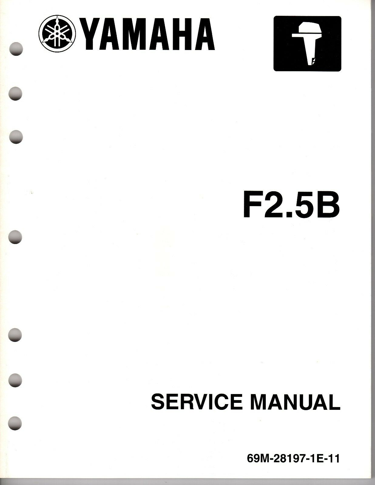2003 YAMAHA OUTBOARD SERVICE MANUAL F2.5B  FOUR STROKE  (Part # LIT-18616-02-42)