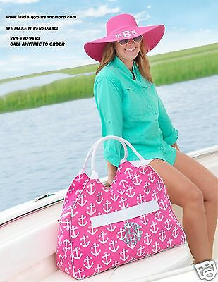 Monogrammed Anchor Beach Bag with matching Cooler Bag