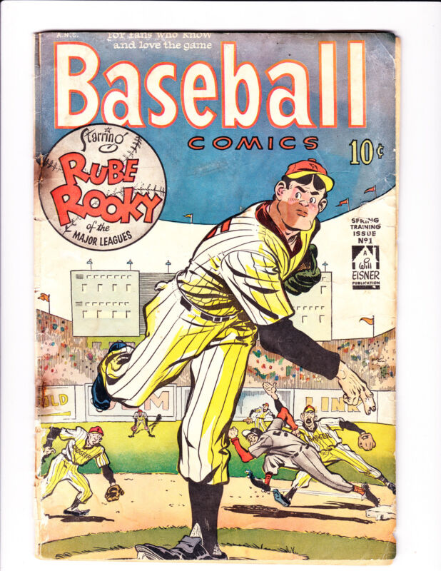 Baseball Comics   No.1    : 1949 :    : Eisner Cover! :