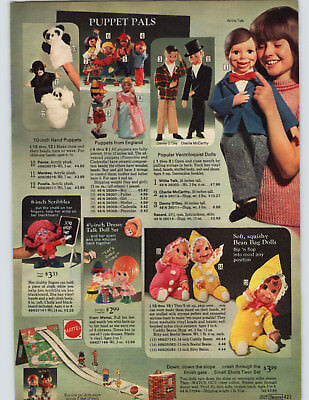 1972 PAPER AD Puppets England Danny O'Day McCarthy Dressy Mattel Furga Italy