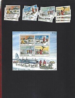 New Zealand sc#791-4 x3 #794a Souvenir Sheet (1984) Complete MNH
