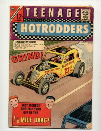 "TEENAGE HOTRODDERS #5  [1963 GD]  ""1/8 MILE DRAG!"""